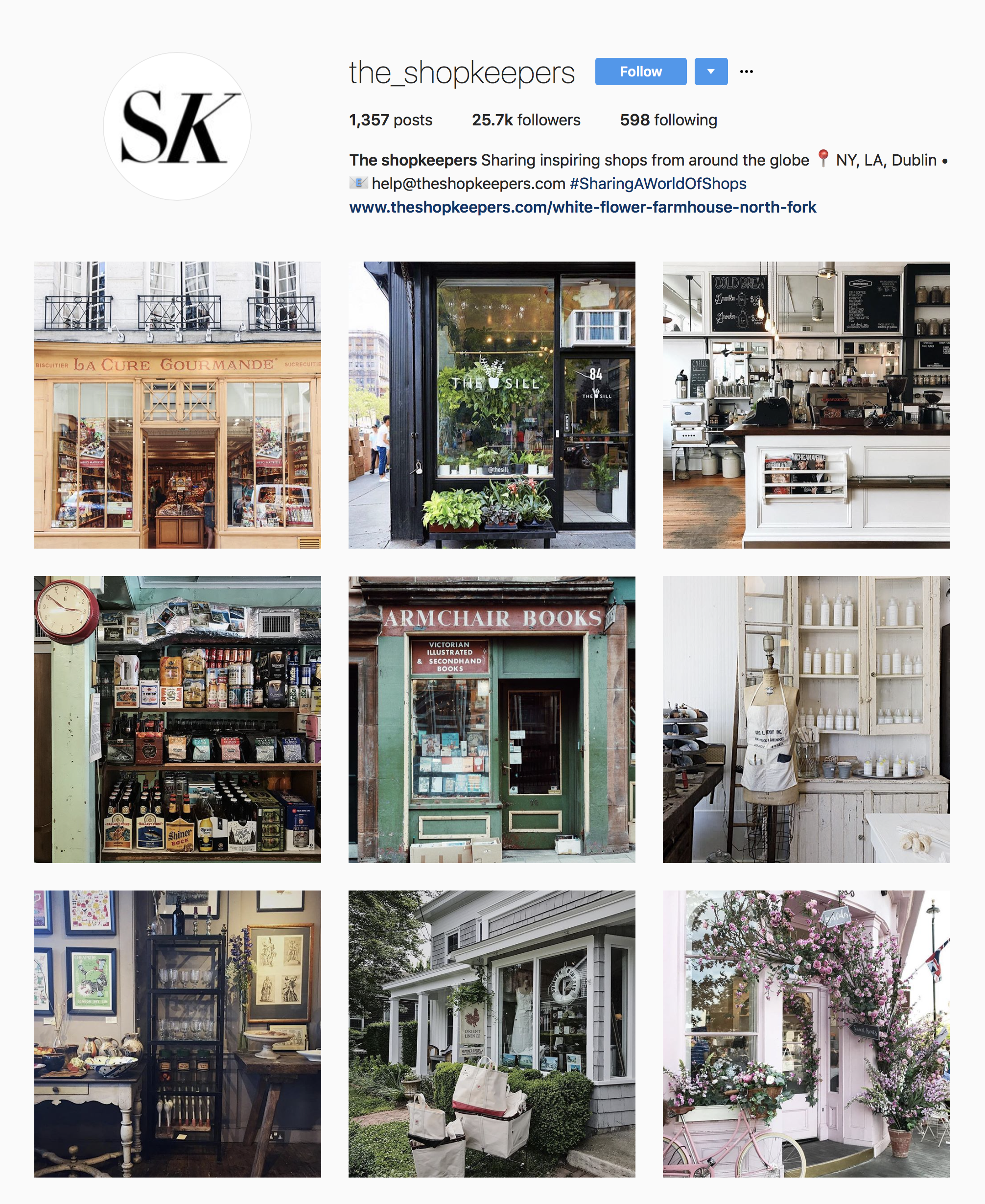 the shopkeepers instagram inspiration