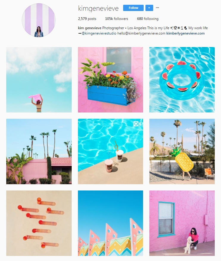color Instagram inspiration