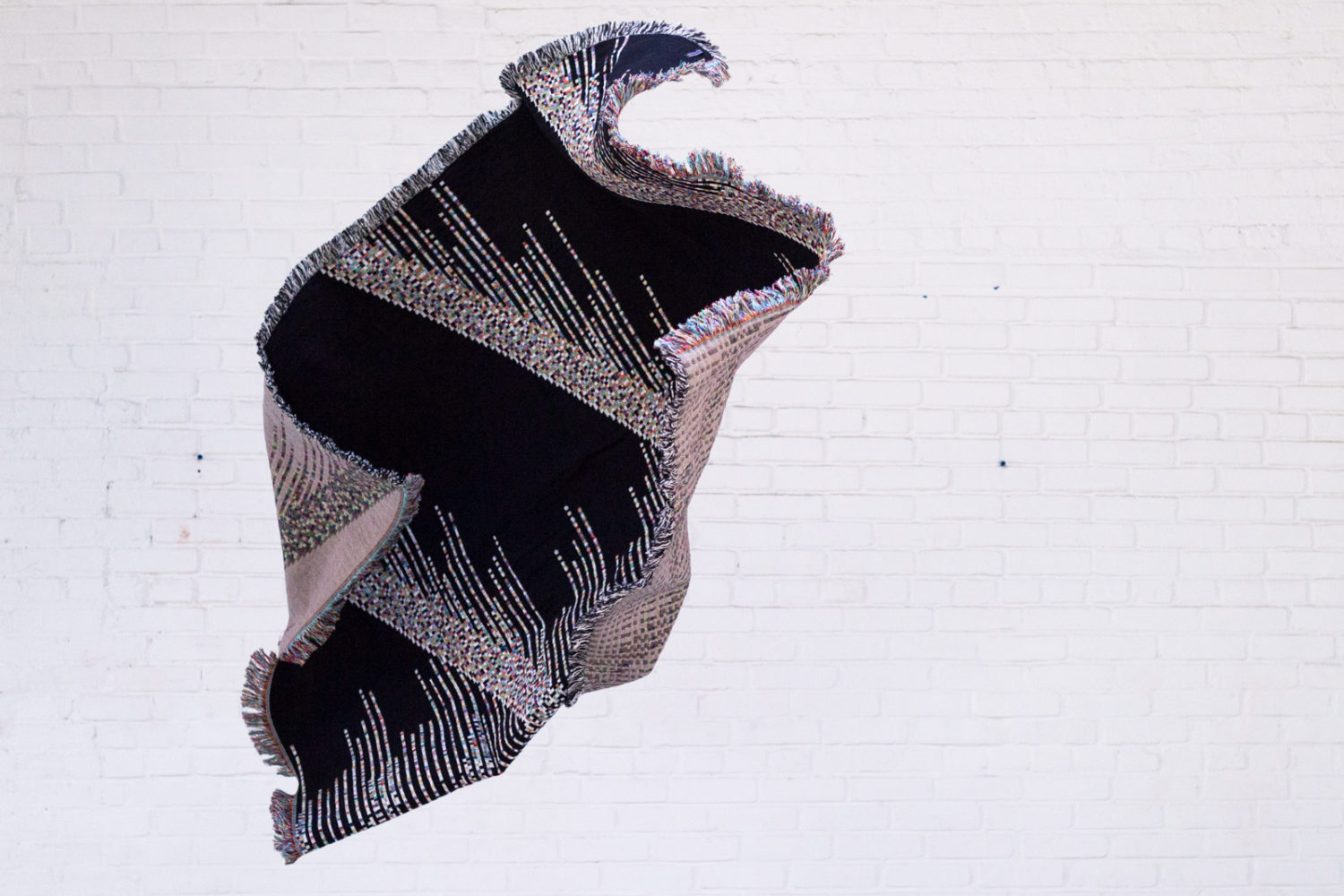 glitch woven throw