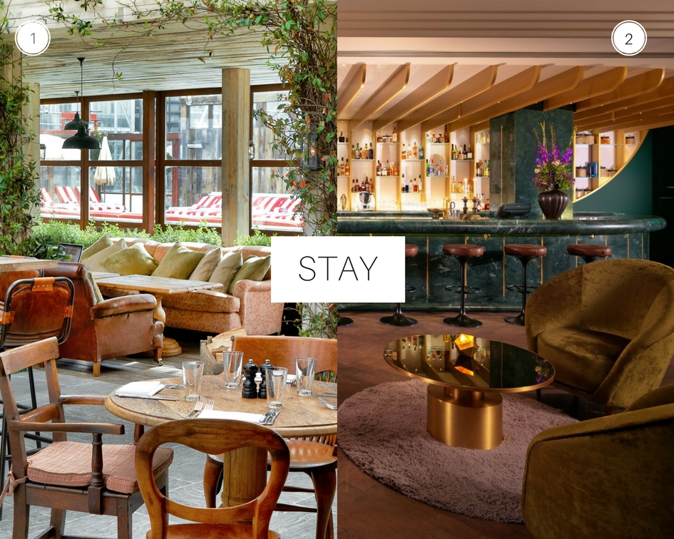 City Guide London 1. The Shoreditch House 2. The Mondrian