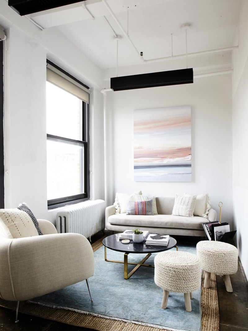 Zoe Pawlak Painting in Karlie Kloss' Office, Design By: Tina Rich, Photo By: Genevieve Garuppo