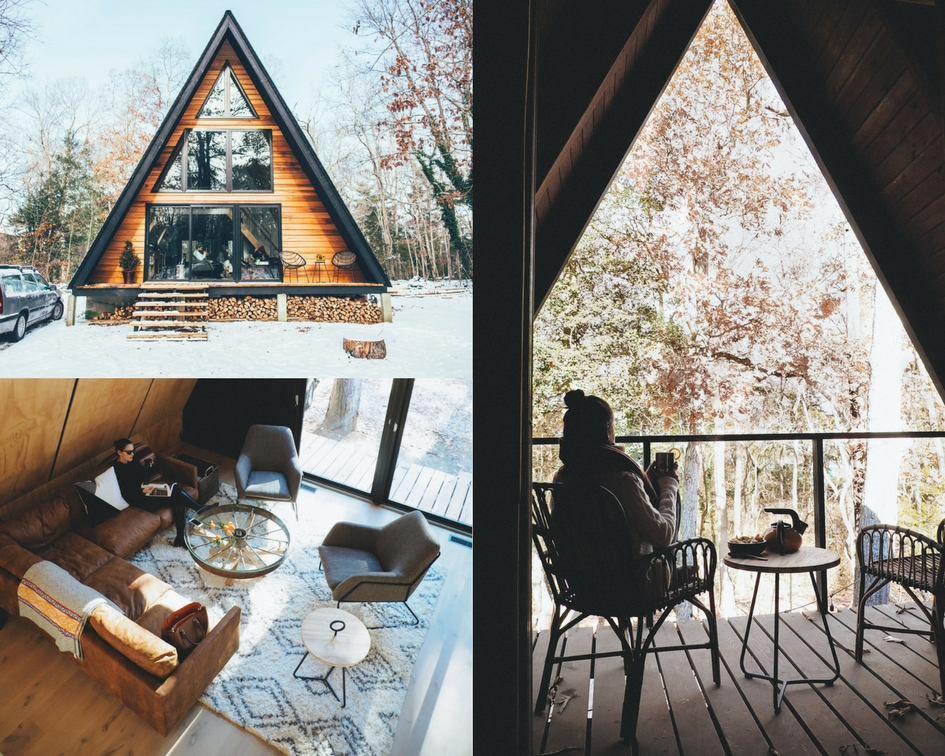 Lokal A Frame: Maurice River, NJ - Life-Styled.net - Winter Cabin Guide