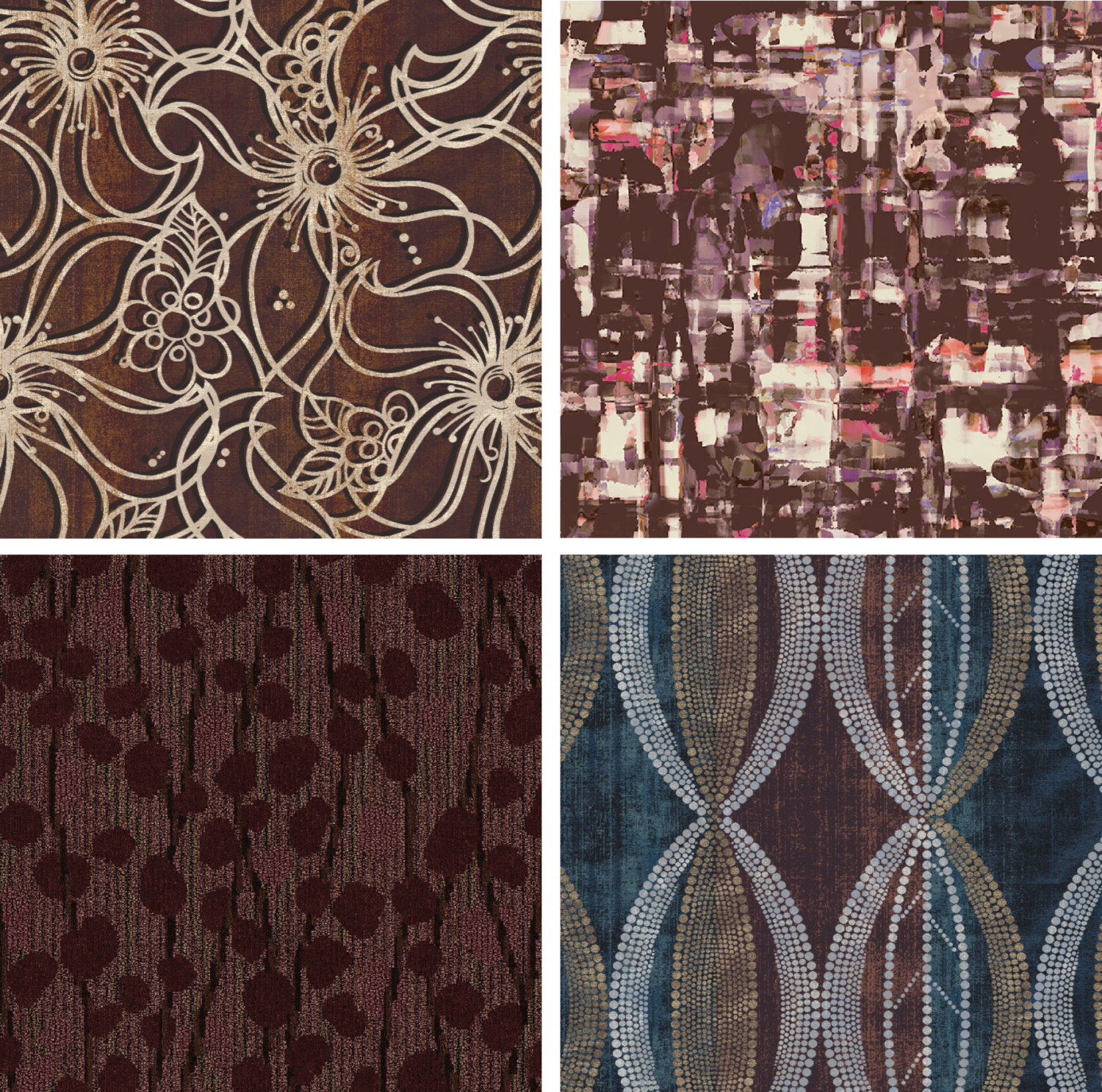 Stacy Garcia Commercial Patterns Merlot