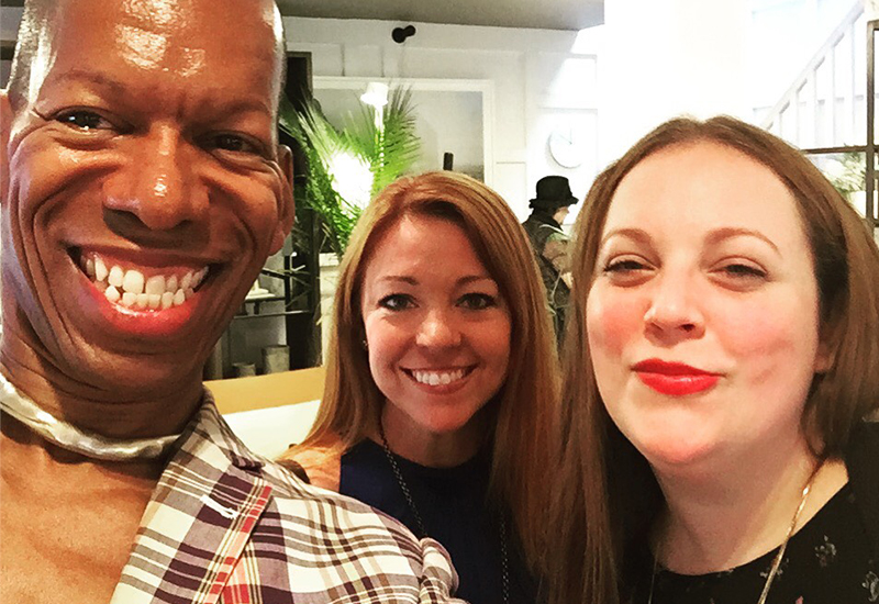 Blane Charles, Founder and Owner of BCD. Cindy Allen, Editor in Chief of Interior Design. Jessica Salsiccia, West NYC Home Showroom Manager